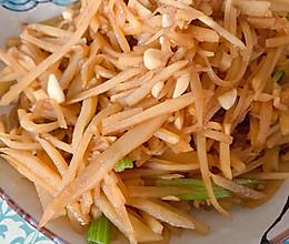 土豆丝炒芹菜的做法
