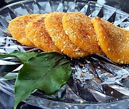 黄金软糯南瓜饼-用平底锅煎出来的健康美味的做法