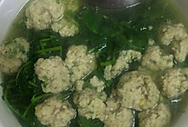 豌豆尖圆子汤的做法