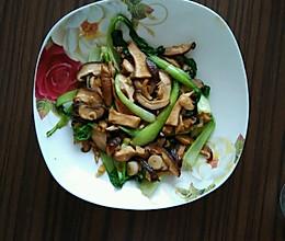 香菇扒油菜的做法