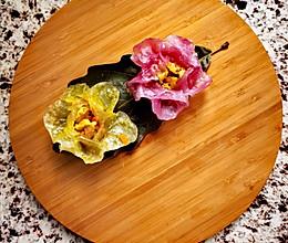 治愈系——花朵蒸饺的做法