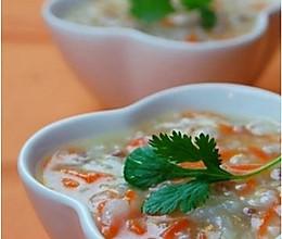 胡萝卜羊肉粥的做法