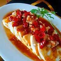 肉末剁椒蒸水嫩豆腐的做法图解6