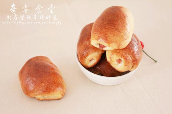 肉松红肠小面包之面包机版的做法