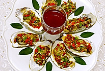 蒜蓉彩椒烤牡蛎的做法