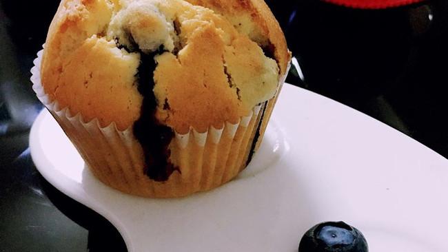 爆浆低脂蓝莓麦芬蛋糕的做法