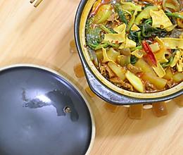 牛肉粉条蔬菜锅,寒冷的夜晚,给自己加餐~的做法