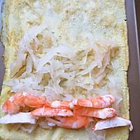 #321沙拉日#白萝卜鲜虾鸡蛋卷的做法图解4