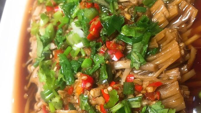 蒜泥剁椒金针菇
