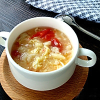 香滑番茄鸡蛋疙瘩汤#急速早餐#的做法图解7