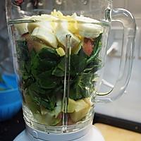 菠菜苹果汁-看着就清爽的做法图解2