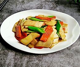 杏鲍菇炒胡萝卜的做法