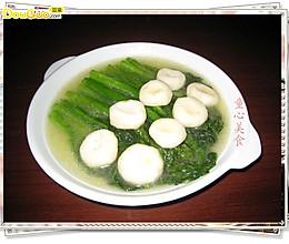 菜心烧荸荠——看亚运.学粤菜的做法