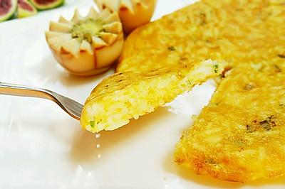 快手早餐——香葱蛋饭煎饼