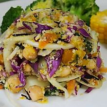 紫甘蓝花菜古斯古斯沙拉