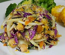 紫甘蓝花菜古斯古斯沙拉的做法