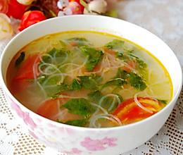 芹菜叶粉丝汤的做法
