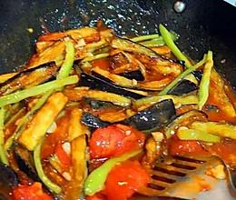 番茄炒茄子的做法