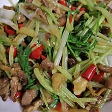 泡椒芹菜爆炒牛肉