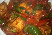 蕃茄青椒炒豆腐的做法