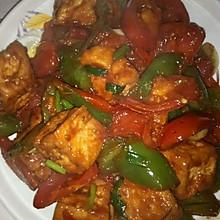 蕃茄青椒炒豆腐