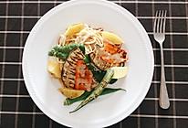 烤蔬菜意面#丘比沙拉汁#的做法