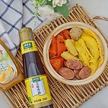#太太乐鲜鸡汁芝麻香油#蛋饺粉丝煲