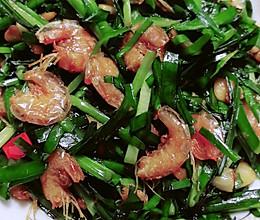 干虾炒韭菜的做法