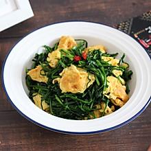 【韭菜炒鸡蛋】鲜美素食