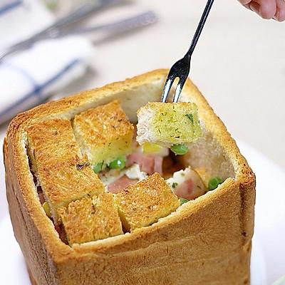 奶酪培根土司堡