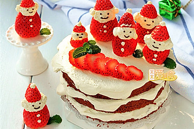 過個萌萌的美美的圣誕節【歡樂滴雪景圣誕老人蛋糕】