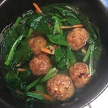 菠菜丸子海米汤