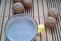 黑芝麻核桃豆浆的做法