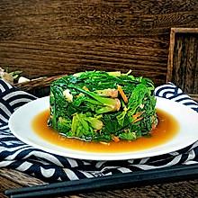 年味餐桌清新菜:酸爽蒜香菠菜~