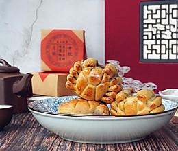 豆沙肉松蛋黄月饼的做法