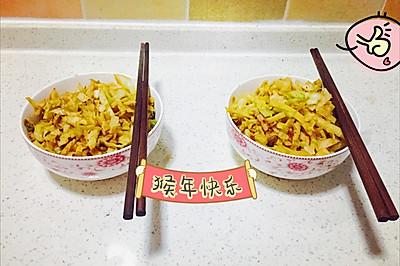 圆白菜炒饼-妈妈菜