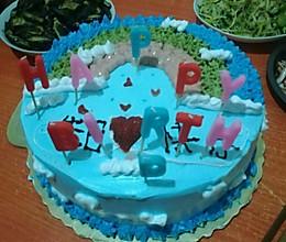 第一次坐生日蛋糕的做法
