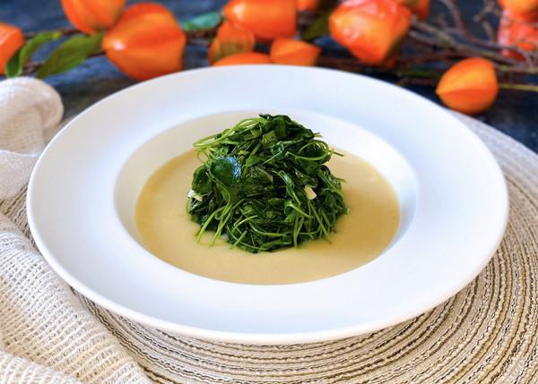 ❤️小黄米浓汤金花菜❤️美味·简单·颜值高的做法