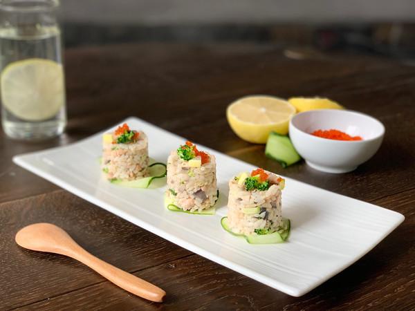#好吃不上火#孩子们最爱的三文鱼烩饭的做法