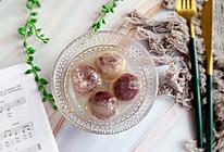 #憋在家里吃什么#水晶紫薯汤圆的做法