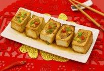 #味达美名厨福气汁,新春添口福#肉末酿豆腐的做法