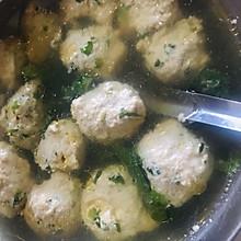 简易减肥菜谱-油麦菜鸡腿丸子汤