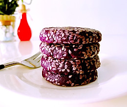 原味紫薯饼,健康做法的做法