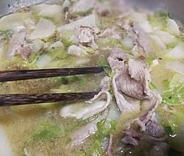 冬季大补•萝卜白菜羊肉汤的做法