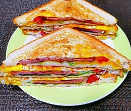 10分钟搞定的鸡蛋火腿三明治的做法