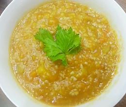 减肥必备 香甜软糯南瓜玉米黄金粥的做法