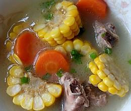 玉米胡萝卜炖排骨的做法