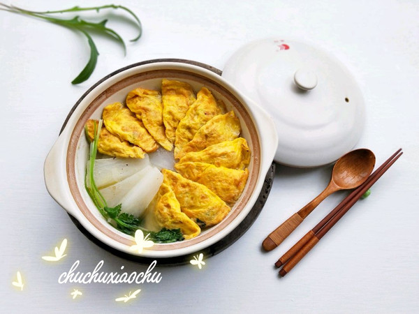 白萝卜蛋饺清煲的做法