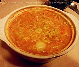豆芽大酱汤(减肥餐)的做法