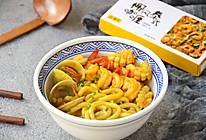 咖喱海鲜乌冬面#安记咖喱快手菜#的做法